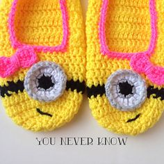 Ravelry: AndreaDanielle's Girly Minion Slippers