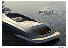 Super Yacht with Helicopter | sierra echo