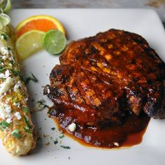 Mexican Adobo Sauce has a wide variety of uses. Grilled pork is among the best of them.