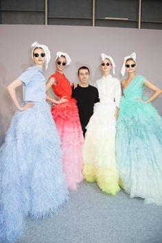 backstage @ giambattista valli aw2014 haute couture