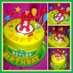 Elmo Topper birthday Cake