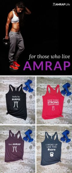 Declare your love of all things AMRAP with one of these CrossFit inspired workout tanks.