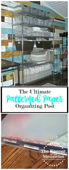 Looking for ideas for organizing your patterned paper? Check out the ultimate patterned paper organizing post or ideas related to organizing your patterned paper by color, collection, and by category.