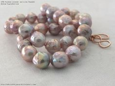 Rainbow Lavender and Lilac Rounded Medium RippleNecklace $400
