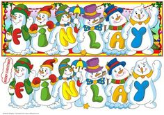 Snowmen Names Large DL FINLAY on Craftsuprint - View Now!