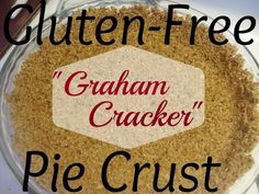 An easy, Gluten-free substitute for traditional graham cracker pie crust. You won't be able to tell the difference!