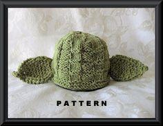Yoda Baby  Hat Knitting Pattern--Children Clothing-Hand Knitted  Baby Hat Pattern-Star Wars-Halloween Baby Hat Pattern-YODA