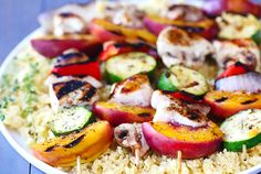 Kebabs or Kabobs? I have been in England for 20 years now and my wife still can't get me to say Kebabs..... Peach & Chicken KABOBS!gimmesomeoven.com