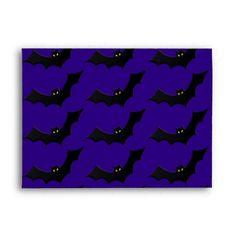 Creepy Bats Halloween Night stationery envelopes