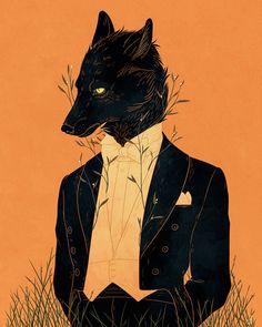 Lord Among Wolves Print From Dappermouth In Cool Art - Mar A Stranger Came From Deep In The Woods Cursed By Men A Lord Among Wolves Art Print On Thick Archival Matte Paper Prints And Posters Are Of The Same Material And Quality Art And Illustration, Illustrations, Arte Furry, Furry Art, Kunst Inspo, Art Inspo, High Fantasy, Fantasy Art, Character Art