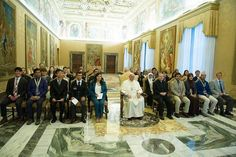 """Pope Francis commended students from 22 countries for their scientific collaboration, calling their work """"a fitting and effective means for promoting peace and justice."""""""