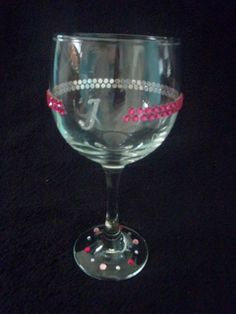 For Birthday, Bridal, and Bachelorette Parties!!    Personalized Hot Pink Blingtastic Wine Glasses, $8.00