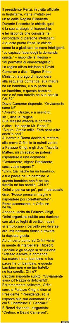 Il presidente Renzi, in visita ufficiale