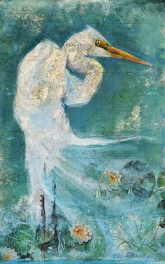 Introducing artist Anthony Morrow's beautiful rendition Great White Egret.