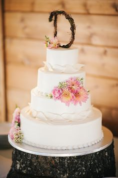 different flowers. No. pink.  _ _ _ _ _ _ _ _ _ _ _ _ _ _ _ _ _ _ _ _ _ _ _ _ _ _  Rustic Wedding Cakes Wedding Cakes Photos on WeddingWire