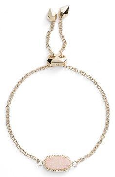 Kendra Scott Elaina Bracelet In Light Pink Drusy/ Gold Cute Jewelry, Jewelry Box, Jewelery, Jewelry Accessories, Fashion Accessories, Kendra Scott Bracelet, Kendra Scott Jewelry, Diamond Bracelets, Bangle Bracelets