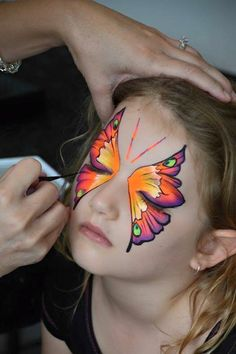Butterfly Face Paint Design.