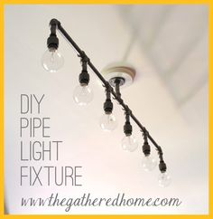 DIY Plumbing Pipe Light Fixture! <$100, shopping list and detailed instructions included!