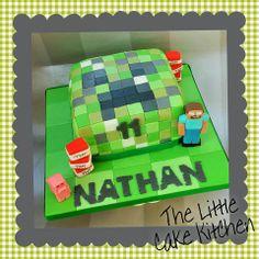 Minecraft Cake Birthday Ideas, Birthday Cake, Minecraft Cake, Little Cakes, Party Ideas, Kitchen, Inspiration, Biblical Inspiration, Cooking