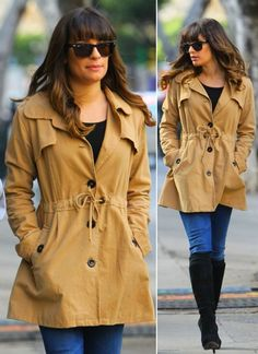 Lea Michele's Stylish Winter Style On Glee Set