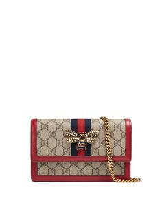 16ec038435b Get free shipping on Gucci Queen Margaret GG Supreme Wallet On Chain at  Neiman Marcus.