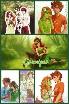 Gruniper, aww I don't see enough fanart of these two, and to think Grover once had a crush on a blueberry bush (see Battle of the Labyrinth)