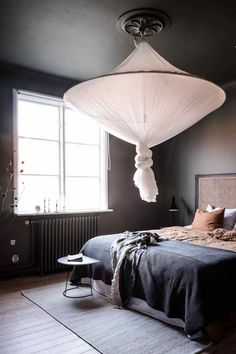 my scandinavian home: A Soothing Swedish Home In Shades of Green and Grey bedroom design master high ceilings A Soothing Swedish Home In Shades of Green and Grey Home Decor Accessories, Cheap Home Decor, Bedroom Interior, Dark Gray Bedroom, Blue Bedroom, Fall Home Decor, My Scandinavian Home, Home Decor, House Interior