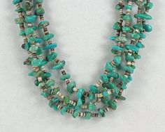 Authentic Native American turquoise nugget and Heishi Necklace