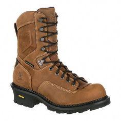 Georgia Boot Men s GB00097 9 CC Comp Toe Waterproof Work Logger Brown Full  Grain Leather ( be304406f
