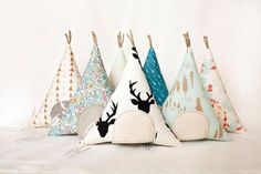 Tooth Fairy Teepee Pillow- Open the Door to Find the Secret Pocket! Kids love these for toys as well as Tooth Fairy Pillows. My kids love to write