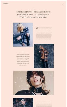 jpg by Ruslan Siiz - web design and branding, feminine yet minimalist with a bold touch. Creative Web Design, Web Ui Design, Logo Design, Web Design Trends, Web Design Company, Email Design, Typography Design, Design Websites, Website Design Services
