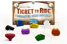 Ticket to Ride Character Score Markers: 8 new Character Score wooden score markers for keeping track of your Ticket to Ride game. An original copy of any complete board game from the Ticket to Ride series is required. Original Copy, Ticket To Ride, Shape Matching, Game Tickets, Game Pieces, Tabletop Games, Games For Girls, Different Shapes, Scores