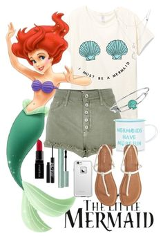 """°The Little Mermaid (Ariel)°"" by catherinetabor ❤ liked on Polyvore featuring River Island, Disney, Charlotte Russe, Aéropostale, Too Faced Cosmetics, LifeProof, Urban Decay, Smashbox and modern"