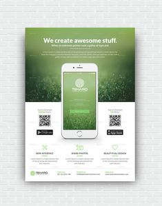 Buy App Promotion Flyer by themedevisers on GraphicRiver. Mobile App Flyer Template, perfectly suitable for promote your mobile application. Very clean modern app flyer templ. Ios App Design, Mobile App Design, App Ui Design, Logo Design, Brochure Design, Flyer Design, Design Design, Ui Design Tutorial, App Promotion