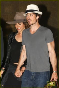Ian Somerhalder & Nikki Reed Step Out After Wedding - See Their Rings!