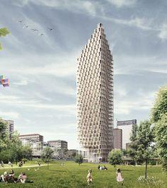 Un gratte-ciel en bois en plein centre-ville de Stockholm