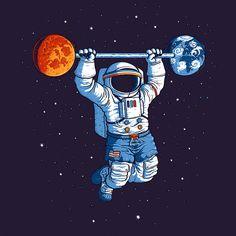 Camiseta 'Space Gym' - Catalogo Camiseteria.com   Camisetas Camiseteria.com - Estampa, camiseta exclusiva. Faça a sua moda!