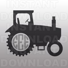 Farm Tractor Monogram SVG File Cutting Template-Vector Clip Art for Commercial and Personal Use-Download-Cricut,Cameo,Explore,SCAL,Decal by sammo on Etsy https://www.etsy.com/listing/236946770/farm-tractor-monogram-svg-file-cutting