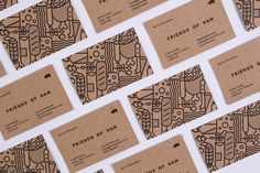 """Branding & Packaging for Friends of Ham by Passport """"Friends of Ham is a bar and charcuterie based in Leeds that serves the finest continental meats and cheeses alongside a vast selection of independent craft ales. After previously designing their..."""