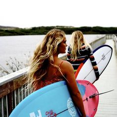 Surfer Girls #Sport #Healthy #Surf