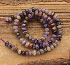 Чароит рондель 6 мм гладкий бусины камни для украшений. Handmade.