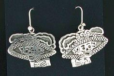 Sterling Silver Mexican Katrina Dangle Earrings by Maria Belen Nilson #MariaBelenNilson #DropDangle
