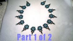 Beading4perfectionists : Netted Necklace design in the making, part 1 of 2 beading tutorial.