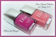 Dior Bloom Bouquet 457 and Perlé 187 - from the Dior Trianon Collection for Spring 2014 Dior Nail Polish, Dior Nails, Spring 2014, Swatch, Usb Flash Drive, Bouquet, Bloom, Collection, Dior Nail Glow