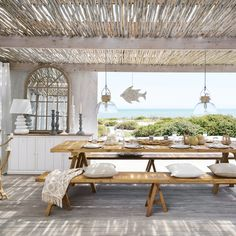 15 Fantastic Beach Style Designs For Your Outdoor Areas - Style MotivationYou can find Beach house and more on our Fantastic Beach . Villa Design, Design Hotel, House Design, Terrace Design, Design Art, Design Ideas, Dream Beach Houses, Beach House Decor, Home Decor