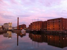 Autumn sky at the Liverpool Waterfront