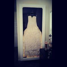 DIY Wedding Dress preserving shadow box!!!!!
