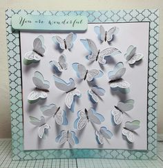 Hunkydory Liftables 'butterflies' handmade card