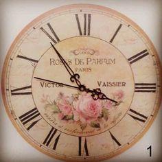 Reloj de pared Vintage. Gara Deco. Artículos para el hogar.