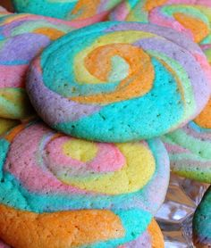 I made these festive cookies for St. Patrick's Day but I think they would also be fun for a party with a Rainbow or Tie-Dye t...